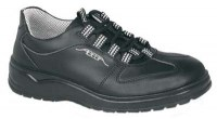 Abeba leather safety shoes model 1038 black with laces