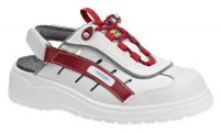 Abeba 1160 occupational shoes white/red.