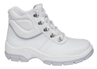 Abeba 1630 leather safetyshoes white S2