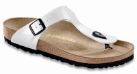 Birkenstock Bf Gizeh slippers white patent.